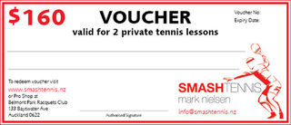 Private Tennis Lesson Voucher - Two Sessions