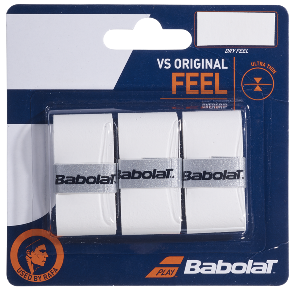 Babolat VS Original Overgrip White 3 Pack