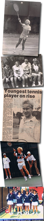 Mark Nielsen youth tennis clippings